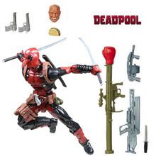 "6 ""Legends x-men Deadpool Chimichanga figuras de acción de juguete Wade Wilson Juggernaut Series arma 2 cabezas raro Original(China)"