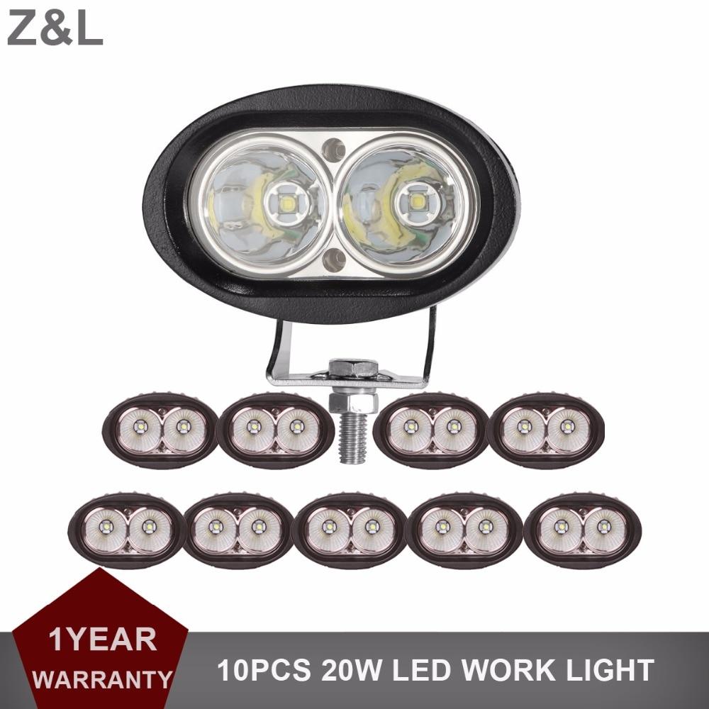 20W LED Work Light Offroad Car Auto Truck ATV Motorcycle Fog Lamp 4 Oval Trailer AWD 4x4 12V 24V 4WD Camper Wagon Headlight