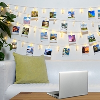 LED Photo Clips String Lights 3M 20 Photo Clips For Hanging Photos Cards Artwork For Indoor
