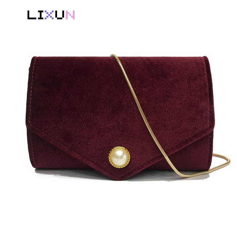 Women's Bag Velour Handbags Messenger Bag Lady Fashion Velvet Shoulder Chain bolsa feminina Soft Solid Tote Women Crossbody Bag lady s skullies womail delicate pregnant mothers soft velvet cap maternal prevention wind hat w7