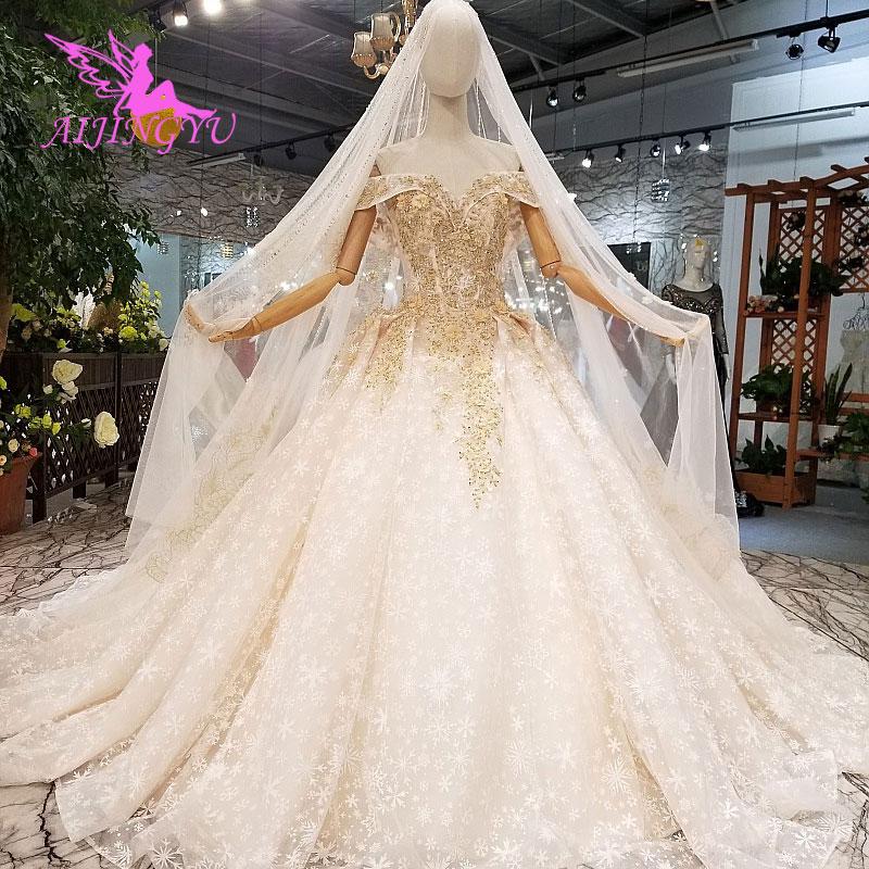 Image 4 - AIJINGYU Новые свадебные платья, платье принцессы с длинными рукавами, большие размеры, корсет, Тайвань, корейский стиль, удивительные свадебные платья, распродажаСвадебные платья    АлиЭкспресс