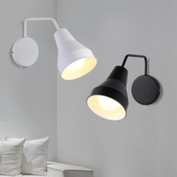 Nordic white / black wall lamp creative small wall lamps study bedside reading lamp living room wall light ZA926148