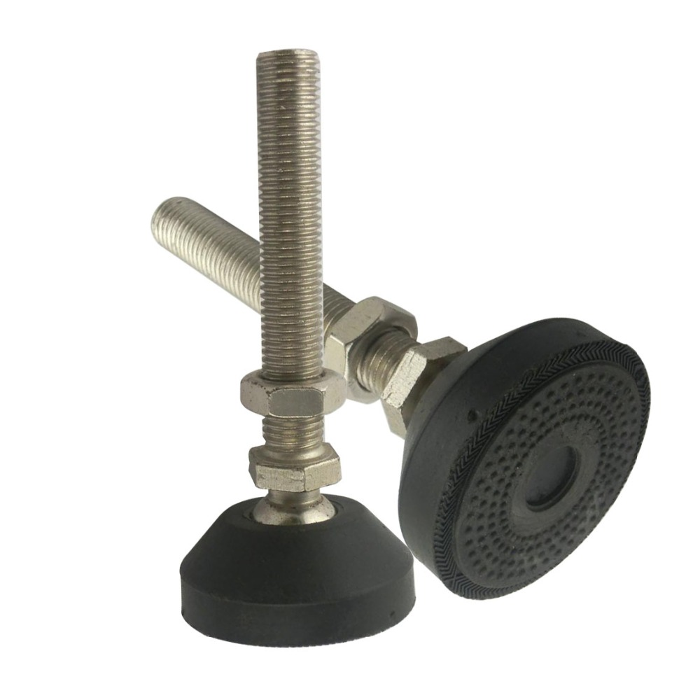 2pcs M20x100mm Adjustable Foot Cups Reinforced Nylon Base 80mm Diameter Articulated Feet M20 Thread Leveling Foot
