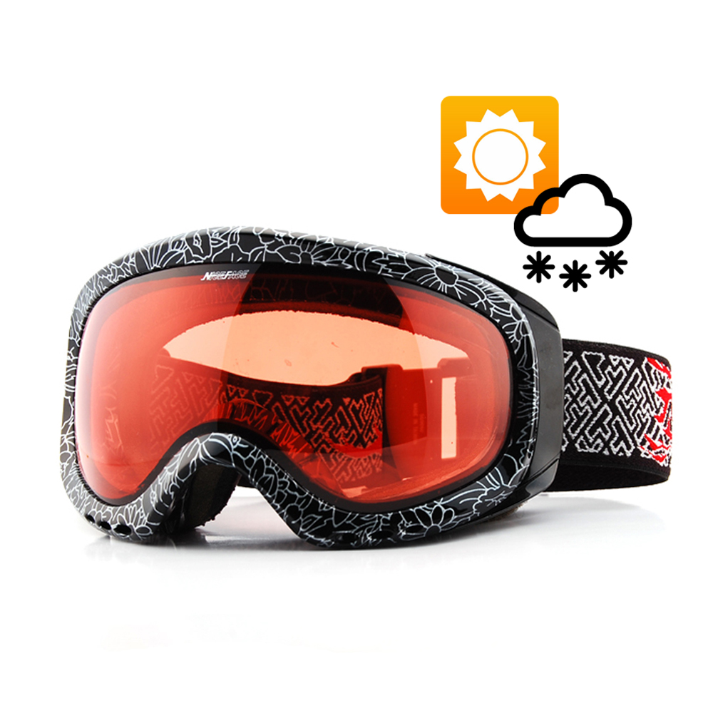 Transition Lens Photochromic Ski Snowboard Snow Goggles Anti-fog UV Protection All Weather Night Vision Sunny Day Men Women
