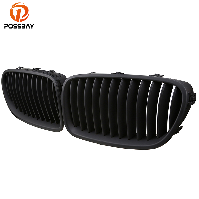 POSSBAY Car Styling Front Matte Black Grilles for BMW 5-Series F10 525d/525dX Sedan 2010-2016 Auto Exterior Accessories GrillsPOSSBAY Car Styling Front Matte Black Grilles for BMW 5-Series F10 525d/525dX Sedan 2010-2016 Auto Exterior Accessories Grills