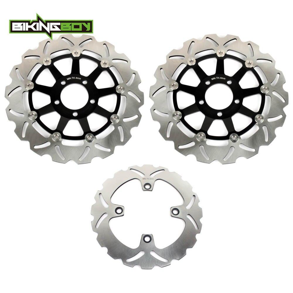 BIKINGBOY Front Rear Brake Discs Rotors Disks for ZZ R 400 04 2005 ZZR 600 E