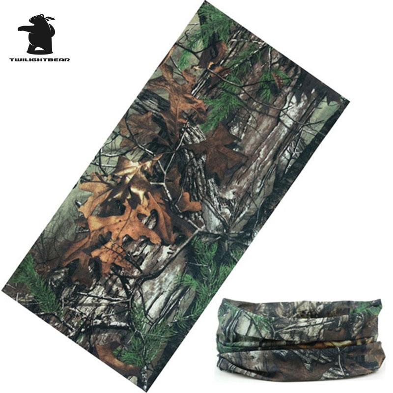 Military Bionic Camouflage Neckerchief Quick-dry Camouflage Scarf For Men And Women Hunting Fishing Riding Scarf AEK1