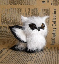 simulation owl mini 6x8cm toy model polyethylene& fur white owl with wings, handicraft, prop,home Decoration xmas gift b3528