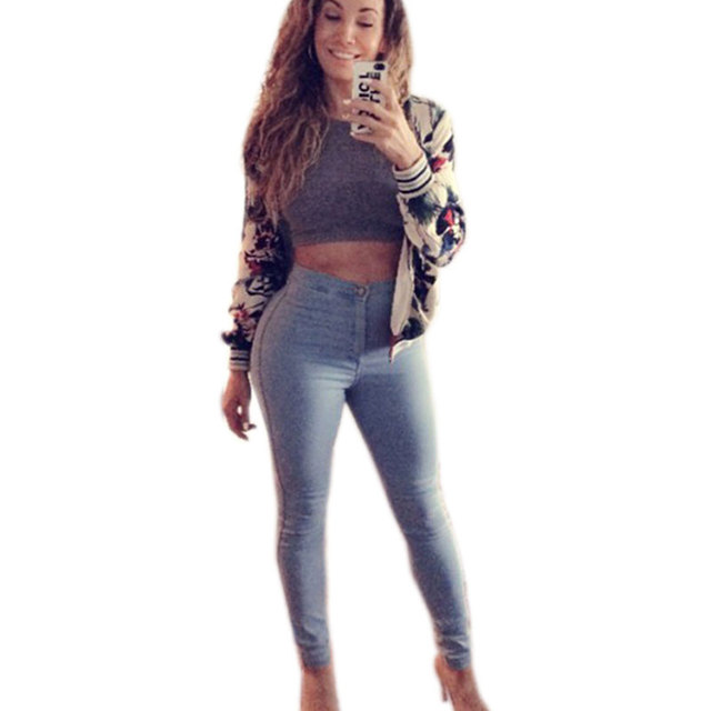 Aliexpress.com : Buy Sexy Skinny Jeans Woman Sky Blue Vintage High ...