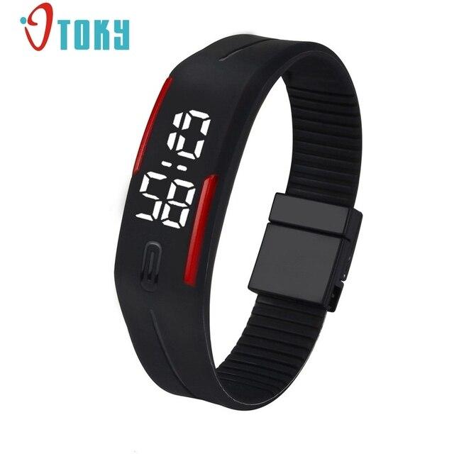 Otoky мужские женские резиновые светодиодные часы Дата спортивный браслет цифровой наручные часы спортивные часы подарок Прямая доставка #30