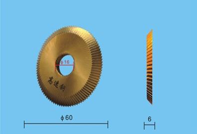 Купить с кэшбэком Best Quality HSS 16mm x 60mm x 6mm For Locksmith BW-9/RH-2/2AS/238BS Key Cutting Disc Blade  For Key Cutting Machine Parts
