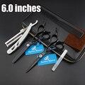 6.0 in. Barber Master Professional  Hair scissors set,Cutting & Thinning scissors,sharp edge,good quality