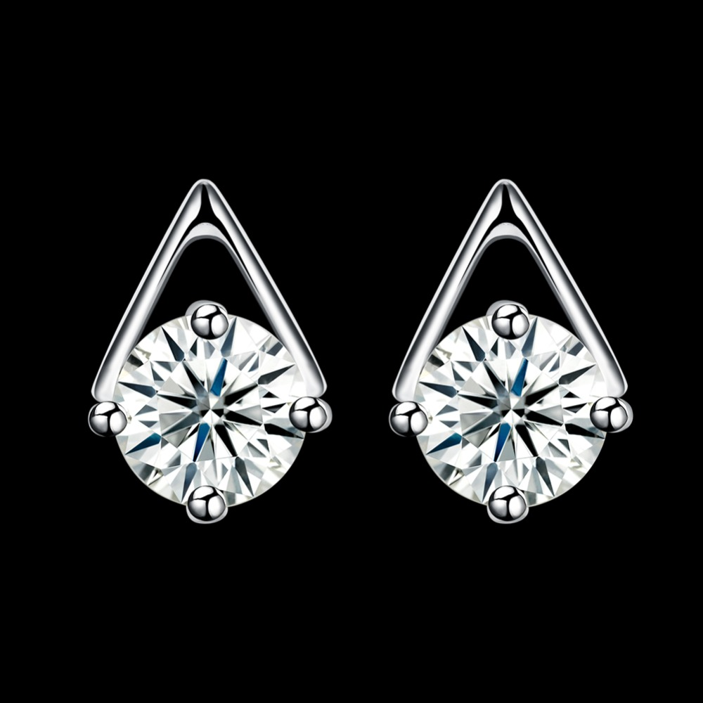INALIS Fashion Ear Studs Beautiful 925 Sterling Silver Spike Stud Earring with Zircon Earrings for Women Jewelry Party gift