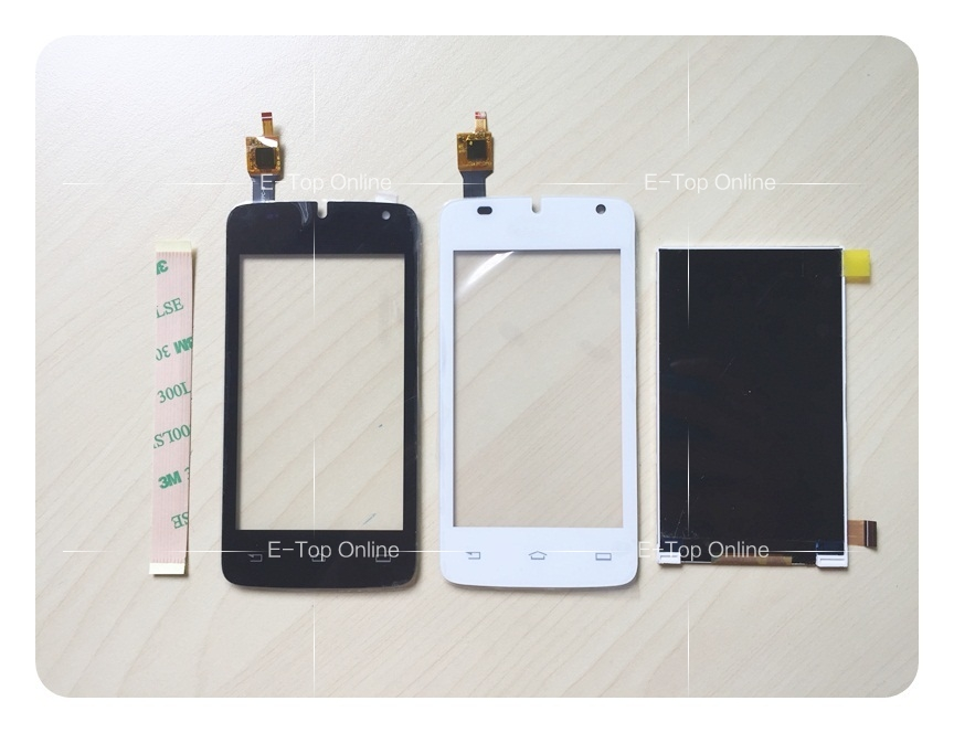 Novaphopat Tested Black White Digitizer Screen For Philips W536 LCD Display Touch Screen Digitizer Sensor Replacement