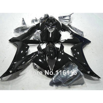 Injection molding hot sale ABS fairing kit for YAMAHA YZF R1 2004 2005 2006 all glossy black YZF-R1 04 05 06 fairings set SK79