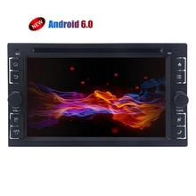 Android 6.0 GPS Car DVD Player 2 Din Car Stereo Bluetooth In Dash GPS Navigation Radio Receiver Support WiFi OBD2 Backup Camera