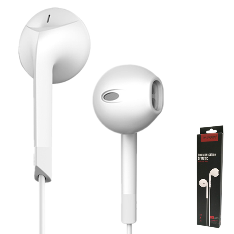 Earphones, OLLLY Earbuds Stereo Earphones with Mic Headphones with Mic Earbuds for iPhone 6s 6 Plus 5s 5 5c Se Galaxy S8 S7 S6 earfun brand big headphones with mic