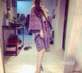 Luxury cc brand women high-end oversized knitted cardigan poncho cape gradient purple cashmere sweater coat long Batwing sleeve