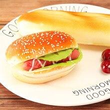 2 kinds Creative Artificial Simulation Hamburger PU Fake Dining-table Decoration Store Hotel Bakery Hamberger
