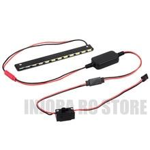RC Auto Metall 130mm LED Lampe Licht Bar mit Schalter Box für 1/10 RC Crawler Axial Wraith Serie 90018 90020 90045