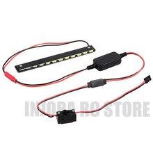RC samochód z metalu 130mm lampa LED światło Bar z skrzynka rozdzielcza do 1/10 RC samochód terenowy Axial Wraith serii 90018 90020 90045