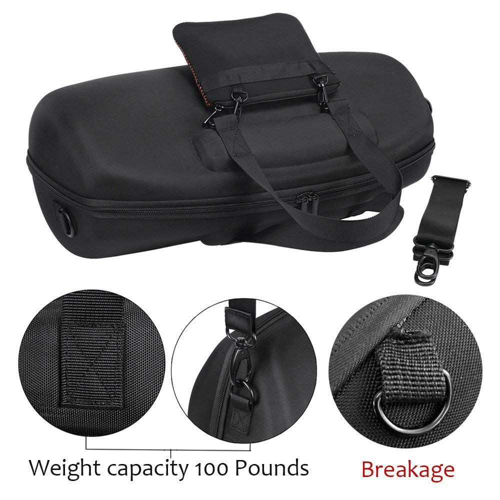 For JBL Boombox Portable Bluetooth Waterproof Speaker Hard Case Carry Case Bag Protective Box (Black)