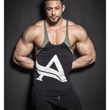 Men 100% Cotton Bodybuilding Gyms Sporting Tank Tops Fitness Stringer Singlet Sleeveless Tops Casual Workout Clothes T Shirts