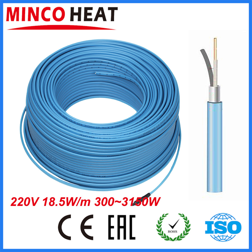 Minco heat single conductor under ceramic tile wood flooring minco heat single conductor under ceramic tile wood flooring warming floor heating cable 3003150w in electrical wires from home improvement on dailygadgetfo Image collections
