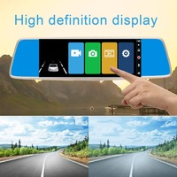 7 Inch Professional 1080P Car DVR GPS Car Rear View Mirror Monitor Reverse Camera Vehicle Driving Recorder