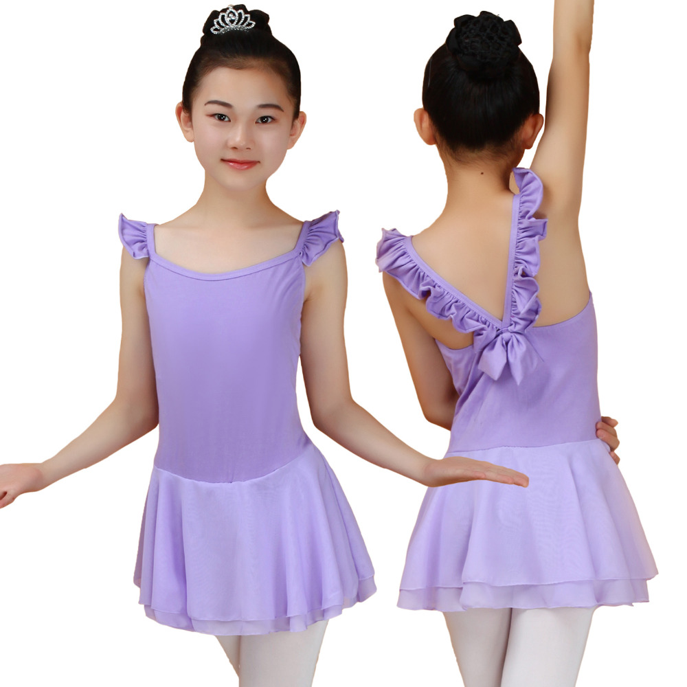 Sleeveless Cotton Gymnastics Leotard For Girls Ballet Dress Dance Clothes Child Kids Tutu Costumes Unitard Classical Dancewear