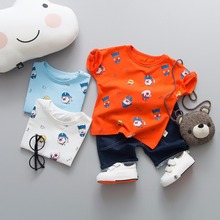 hot deal buy zwxlhh 2019 summer baby boys clothing sets children toddler clothes suit cartoon t shirt shorts suit infant kids shorts suit