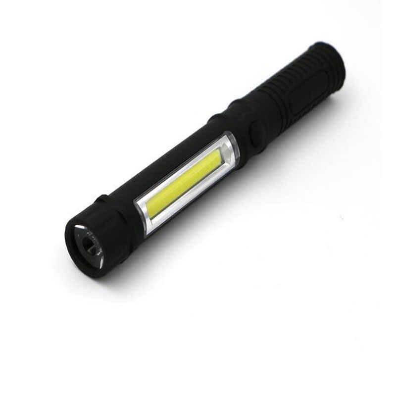 Miniluz portátil, luz de inspección de trabajo, linterna LED COB multifunción de mantenimiento, Linterna de mano, lámpara con imán AAA