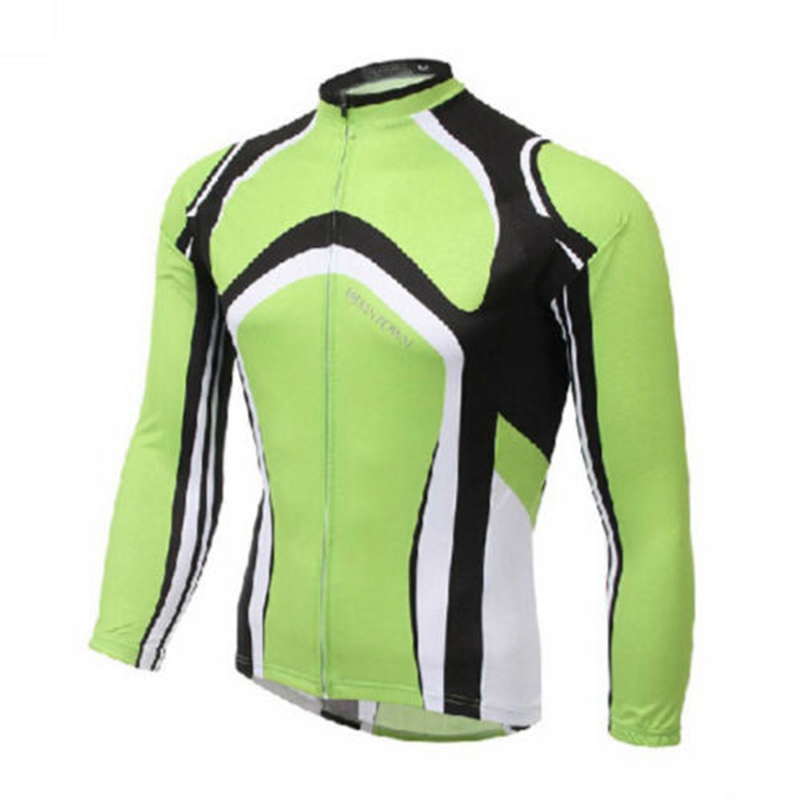 XINTOWN Men Bike Long jersey Green Pro Team Cycling clothing Riding Top Male MTB Ropa Ciclismo Wear Maillot Long Sleeve Shirts