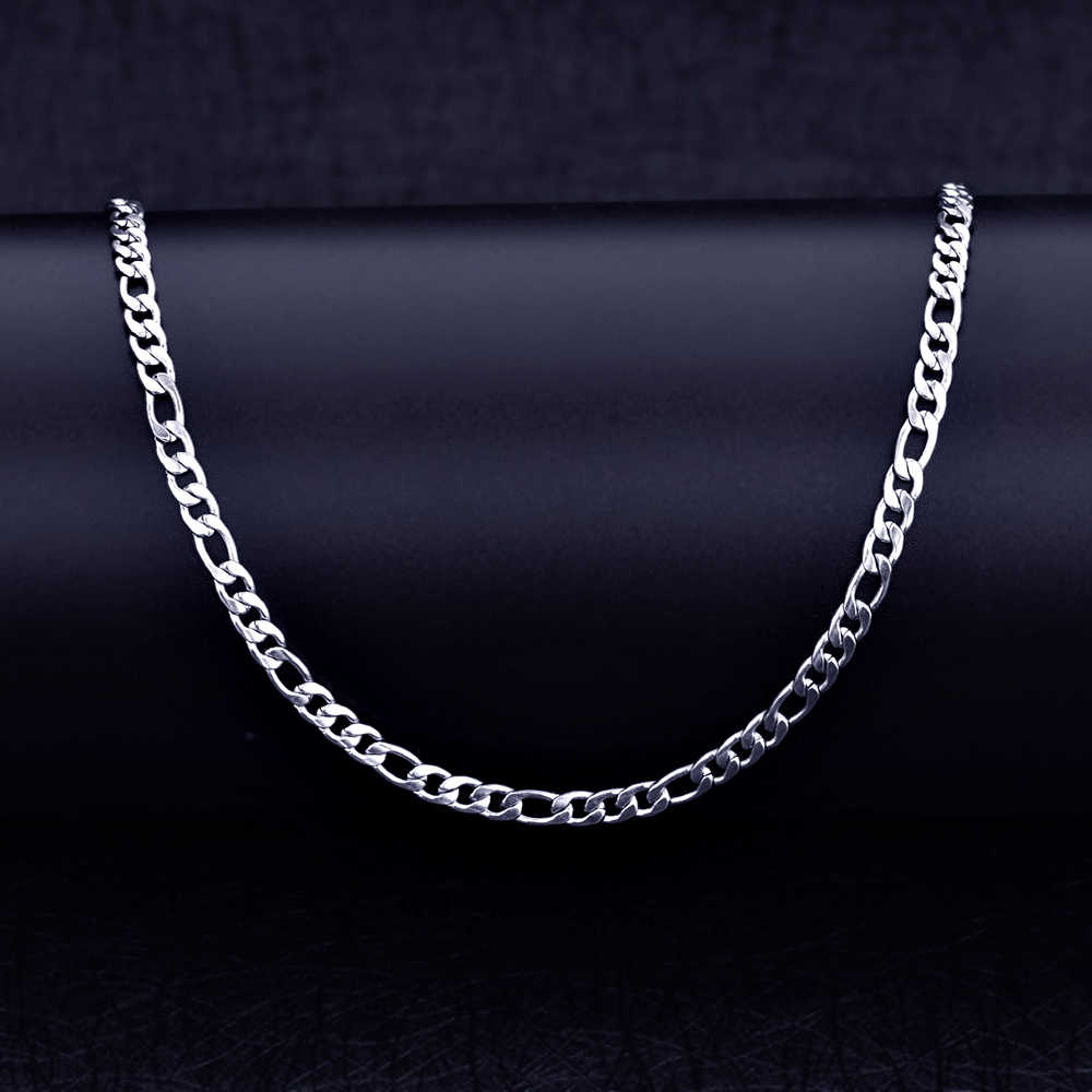 Cheap Stainless Steel 4MM 3:1 Fegalo Chain Necklace Fashion Men's Party Jewelry Length 50/55/60/70CM drop shipping