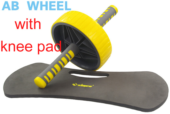 1 piece big size AB Wheel Roller with knee kneel pad mat Double Breaststroke Abdomen Trainer Rollers training gym fitness