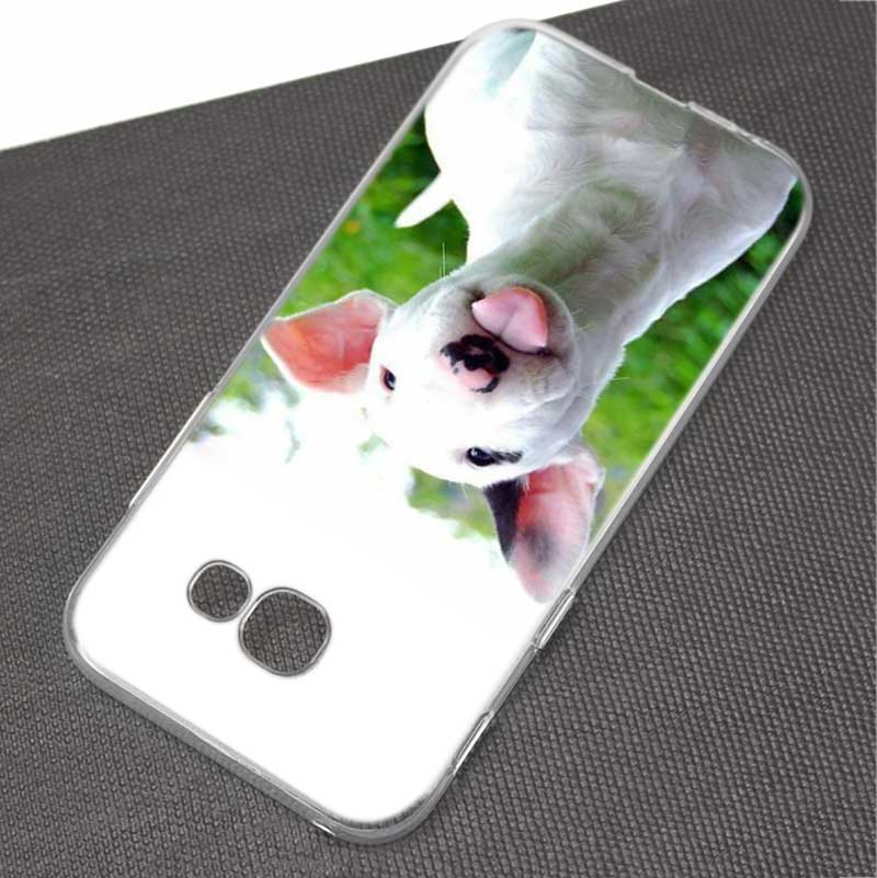 BINYEAE Bullterrier bull terrier Style Clear Soft TPU Phone Cases Cover for Samsung A5 A3 A7 A8 2017 2016 2018