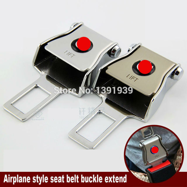 Aeroplano del estilo del cinturón de hebilla extender Universal cinturón de seguridad del coche para Toyota Camry Corolla Yaris Avalon Sienna Rav4 Venza Prius
