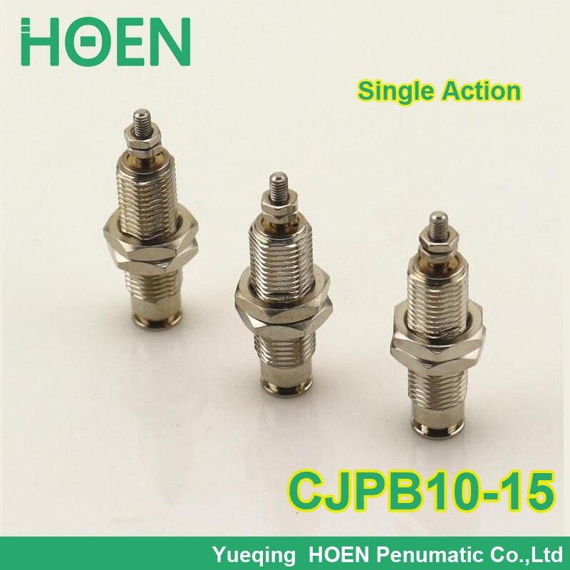 CJPB10-15 SMC type Mini CJPB series 10mm bore 15mm stroke single acting spring return needle pin air pneumatic cylinder 10*15