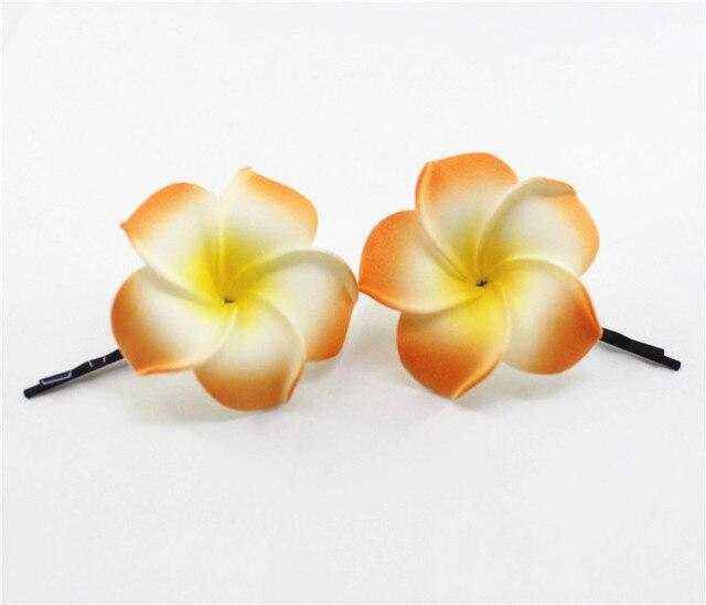 10 Orange Couleur Mousse Hawaiian Plumeria Fleur De Frangipanier