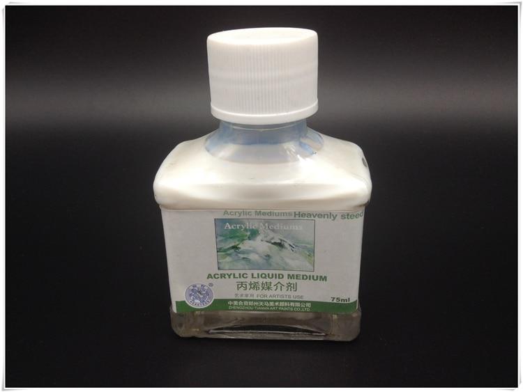 aeb020e621e1d الماركة الاكريليك الطلاء وكيل 75 ملليلتر الوسائط زجاجة المهنية الاكريليك  اللوحة التوافقي مخفف السائل