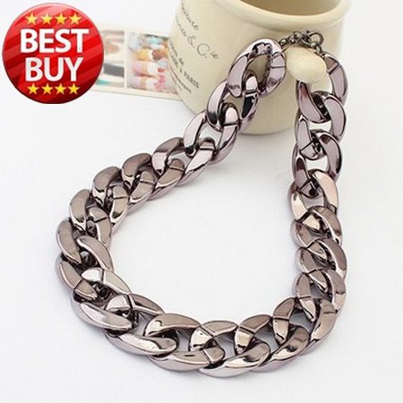 2013 New Designer Dress CCB Vintage Gold Plated Chunky Punk Chain Choker Collar Bib Statement Necklace Fashion Jewelry For Women