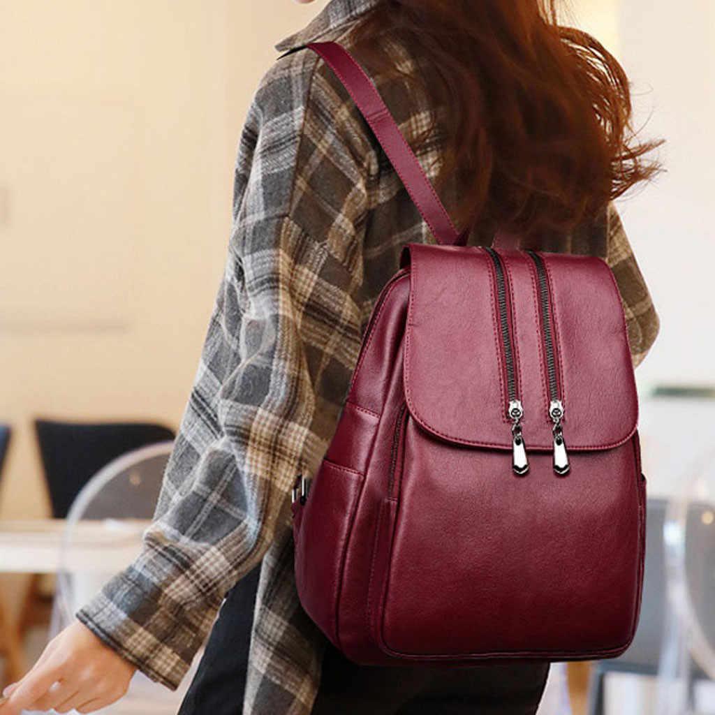 Рюкзак женский из искусственной кожи женские рюкзаки подростковые школьные сумки Mochila Feminina рюкзак Mochilas Mujer # Zer