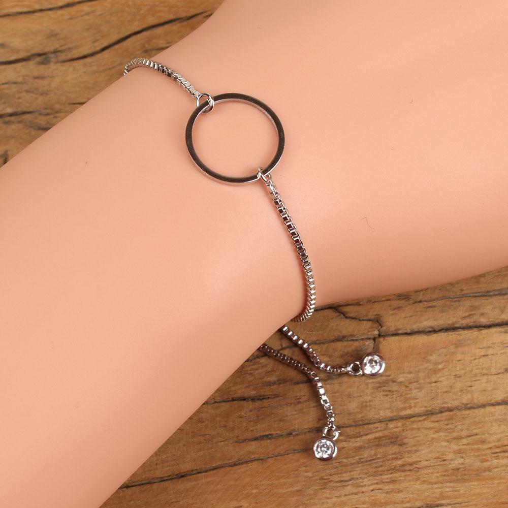 Go2boho минималистский полые Круглый браслет кристалл цвета розового золота Серебряный браслет женские простые украшения подарок для девочки...