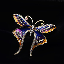Linda and jewelry retro fashion ladies temperament butterfly brooch enamel craft accessories