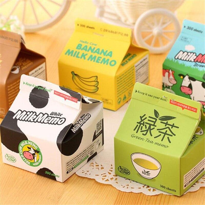 Creative Milk&Coffee Box Design Memo Pad Daily Notepads Escolar Papelaria School Supply Bookmark Post It Label Stationery 8cm чехол для планшета it baggage для memo pad 8 me581 черный itasme581 1 itasme581 1