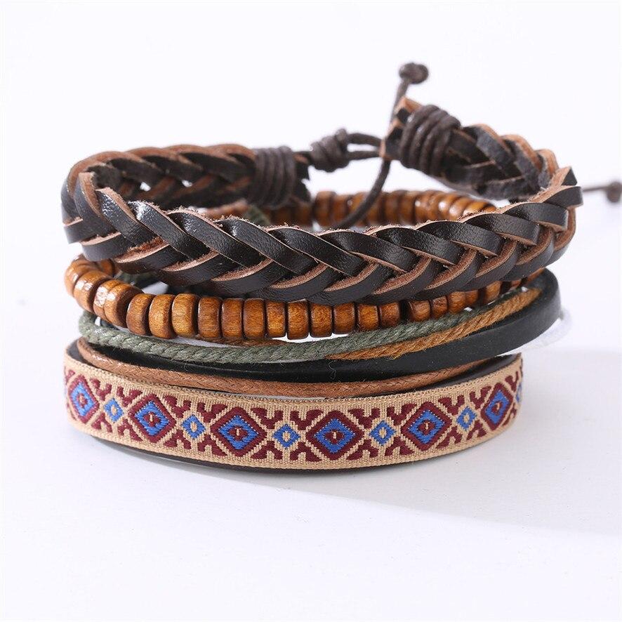 bracelets bangles Women Fashion Handmade Bangle Bracelets Leather 4025101010