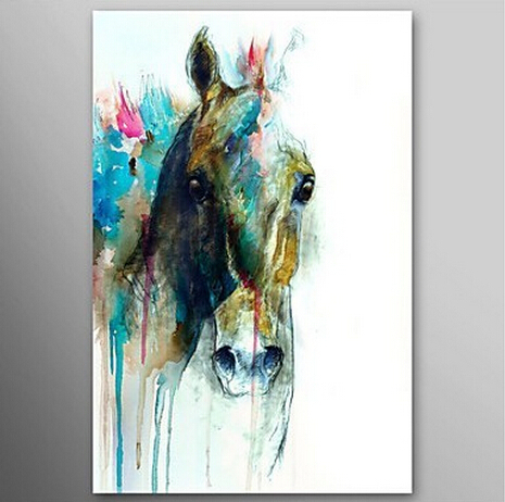 Abstract oil paintings of horses for Sell abstract art online