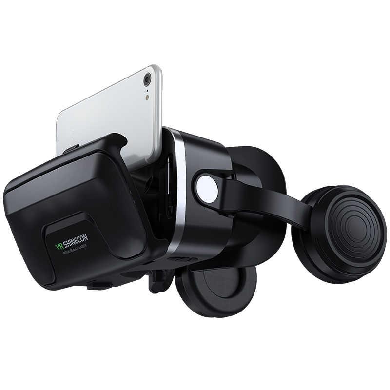 VR Shinecon 10.0 Helm 3D Kacamata Casque untuk Smartphone Ponsel Pintar Kacamata Headset Viar Video Game Teropong
