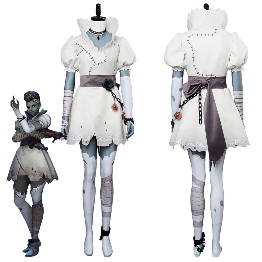 Game OW Hacker Sombra Corpse Bride Cosplay Costume Uniform Outfit Halloween Suit For Women Girls Halloween Carnival Costumes
