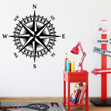 Hot Sale Compass Removable Pvc Wall Stickers For Kids Rooms Diy Home Decoration Decal Mural